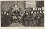 King Henry VIII presenting a charter to the College of Surgeons