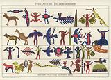 Pictures of the vocal writing of the Wabino-Odschibwa Native American Indians
