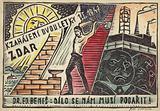 Czechoslovakian Communist propaganda postcard, 1947
