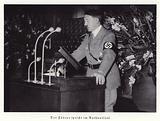 Adolf Hitler making a speech in Nuremberg City Hall, 1936