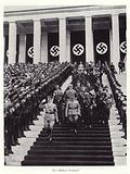 Hitler and other senior Nazis at the Nuremberg Rally, 1936
