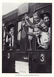 Girls travelling to the Nuremberg Rally by train, 1936