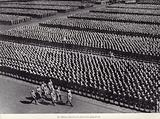 Hitler inspecting the massed ranks of the Hitler Youth, Nuremberg Rally, 1936