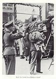 Nazis saluting Hitler, Nuremberg, 1936