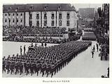 Members of the NSKK marching through Nuremberg, 1936