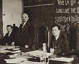 Lenin in the presidium of the First Congress of the Communist International in the Kremlin …