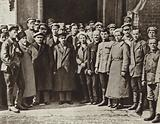 Lenin and M I Kalinin with a group of students of the Moscow school for Red Army heavy-artillery …