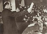 Lenin speaks at the Second Congress of the Communist International, Petrograd, 19 July 1920