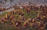 Germans battling Indian troops near Ypres, World War I, 1914-1916