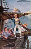 Captain Cook circumnavigating New Zealand, 1769