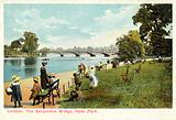 London, the Serpentine Bridge, Hyde Park