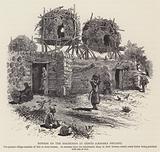 Bowers on the housetops at Banias (Caesarea Philippi)