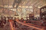Rail mill, Krupp Steelworks, Essen, Germany