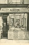 A Green, Tobacconist, Newsagent and Stationer, 1905