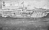 Captured German minelaying submarine UC-5, July 1916