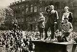 Ernst Thalmann, leader of the Communist Party of Germany, speaking in the Lustgarten, Berlin, September 1930