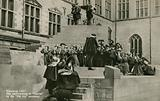 A performance of William Shakespeare's 'Hamlet' by the 'Old Vic' company at Kronborg Castle, Germany 1937.