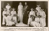 Wedding photo of King George VI and Queen Elizabeth
