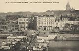 Panorama of Boulogne-sur-Mer and the Pont Marguet, France