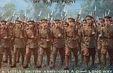 British Army soldiers off to the front, First World War