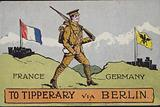 To Tipperary via Berlin, British First World War propaganda postcard
