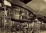 Control room of airship LZ 130 under construction