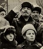 Lenin in Red Square during the celebrations of the second anniversary of the Great October Socialist Revolution, Moscow, 7 November 1919