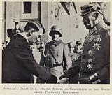 Nazi leader and German Chancellor Adolf Hitler greeting President Hindenburg, Potsdam, 21 March 1933