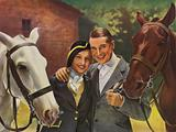 Hollywood film stars Jeannette MacDonald and Maurice Chevalier in Rouben Mamoulian's musical comedy film Love Me …