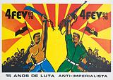 Propaganda poster issued by the MPLA (People's Movement for the Liberation of Angola) celebrating victory in the war …
