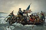 George Washington crossing the Delaware during the American War of Independence, 25 December 1776