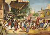 Street at the back of the Jama Masjid, Delhi, India