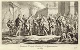 King Francis I of France receiving the Emperor Charles V at Aigues-Mortes, 1539