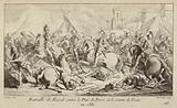 The armies of the Duke of Berry and the Count of Foix fighting at the Battle of Revel, France, 1381