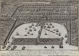 A view of the city and port of Alexandria and Isle of Pharos, Egypt, 1738