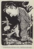 Caricature of English writer Walter de la Mare