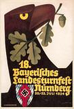 18th Bavarian Gymnastics Festival, Nuremberg, 20–22 July 1934
