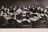 Allied leaders meeting at the Potsdam Conference to decide how to administer Germany after the end of the Second World …