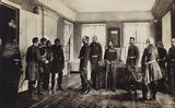 The captured Ottoman General Osman Pasha presented to Tsar Alexander II of Russia after surrendering at the Siege of Pleven, Russo-Turkish War of 1877-1878