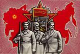 Soviet propaganda image praising the 1917 Russian October Revolution, 1974