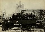 Mobile detatchment of Red Guards during the October Revolution, Petrograd, Russia, 1917