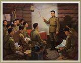 North Korean communist leader Kim Il-sung highlighting the strategic plans of the Korean People's Revolutionary Army upon re-entering the motherland in March 1937
