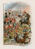 Square of the 42nd Highlanders charged by French cuirassiers at Quatre Bras, 16 June 1815