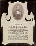 In memory of His Royal Highness Prince Albert