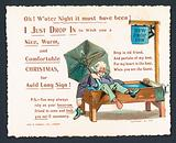 Intoxicated Man in Horse Trough!, Christmas Card