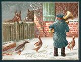 Playing the Trombone in the Snow, Christmas Card