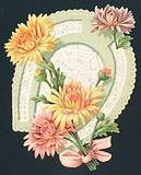 Horseshoe and Flowers, Card