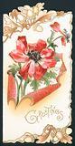 Poppy with Acorns, Card
