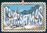 Christmas Wording in Ice, Christmas Card