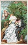 Gentleman romancing Lady! New Year Card.